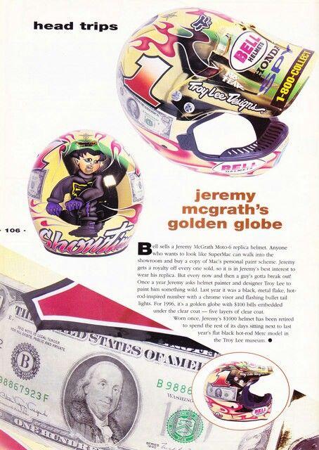 TLD JMcG $100 bill helmet