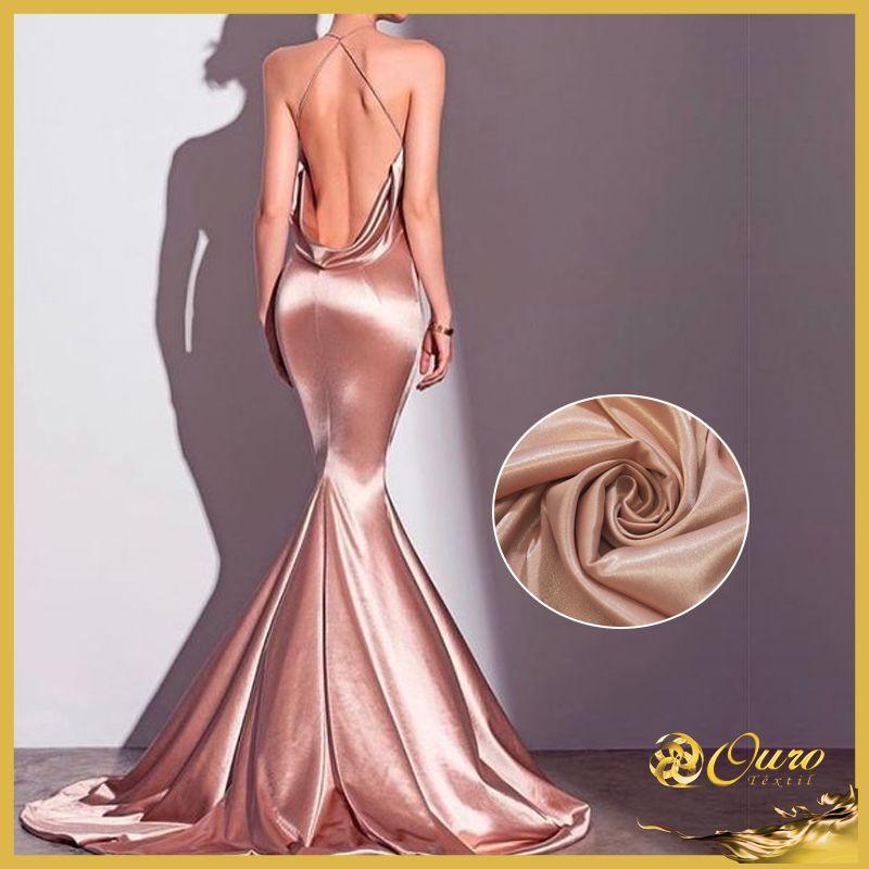 Crepe Diamond Pele Tecidos Finos Look Inspiração Tecido