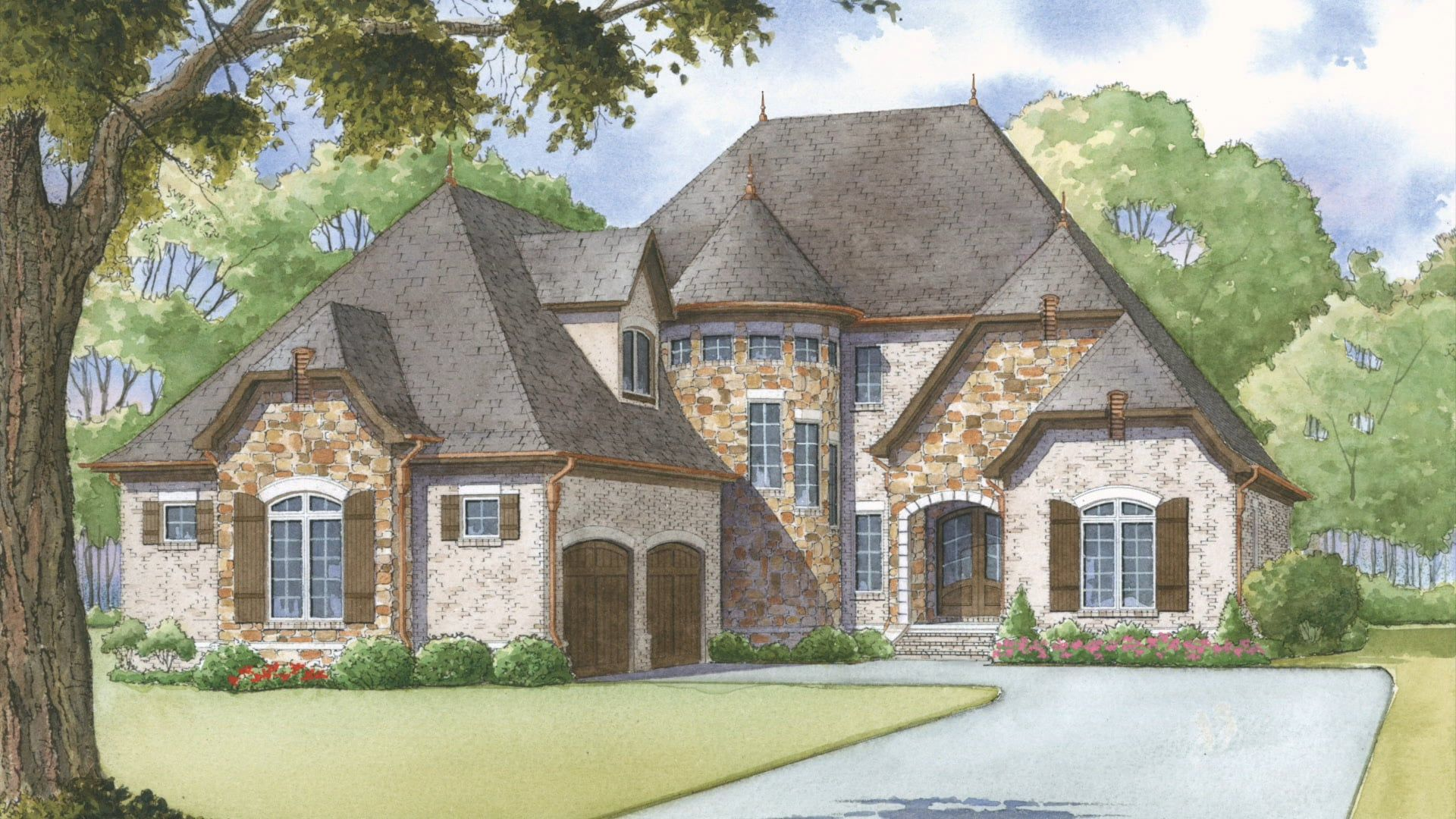 House Plan Men 5000 Ivy Cottage Visual Open House French Country House Plans French Country House Country House Plans