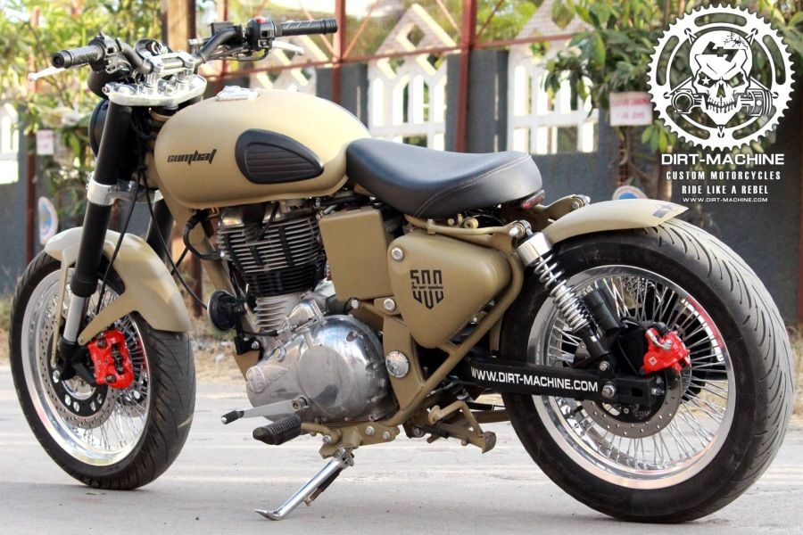 Photo of Royal Enfield Classic 500 Combat Edition By Dirt Machine Custom – Modified Motor…
