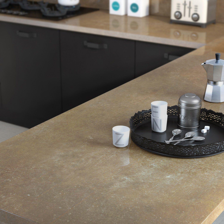 Plan De Travail Droit Stratifie Pietra 300 X 65 Cm Ep 37 Mm Cuisine Leroy Merlin Renovation Cuisine Plan De Travail Stratifie