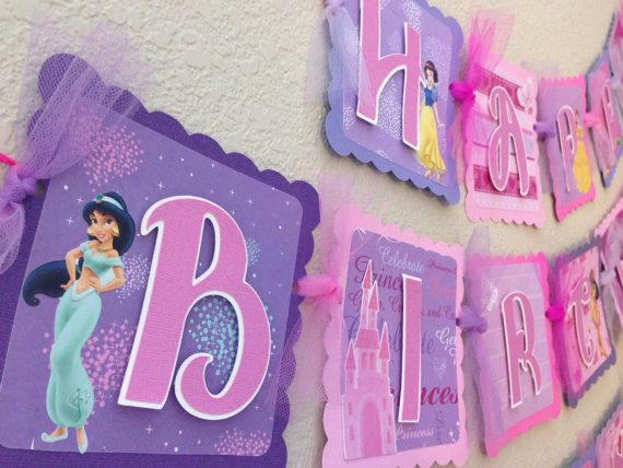 Disney Princess Birthday Banner by CelebrationBanner on Etsy Boo