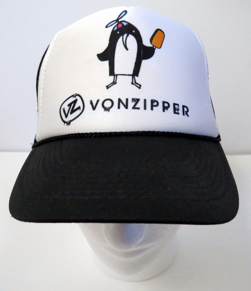 005497d7696 Von Zipper Mens Hat Penguin Popsicle Black   White OSFM  BlackWhite ...