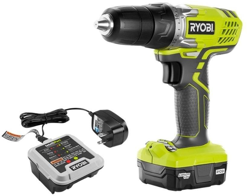 Ryobi 12 Volt 3 8 Drive Cordless Variable Speed Lithium Ion Drill Driver Kit Ryobitechtronicindustriescoltd Cordless Drill Reviews Ryobi Drill Drill Driver