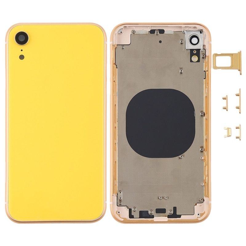 f49f3f9282a For #iPhone XR Battery Door Back Cover Housing With Side Buttons-Yellow We  can