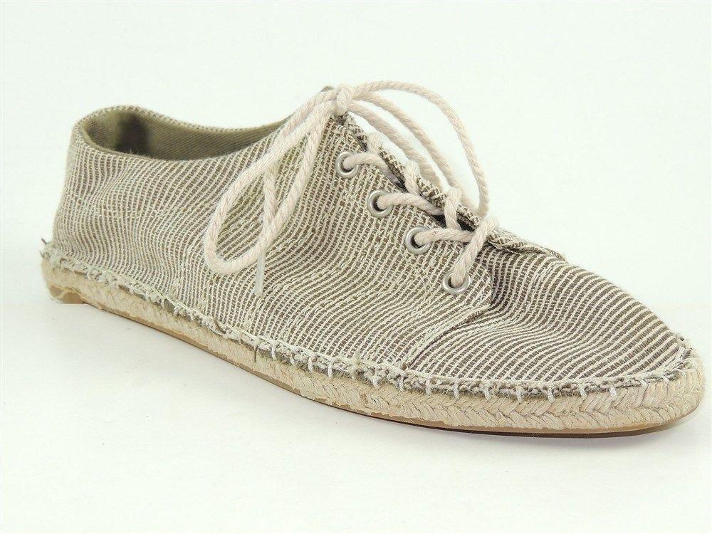 SPLENDID 'REGAL' Women's Shoes Coconut-RC Canvas Lace Up Flats US Size 7.5 #Espadrilles