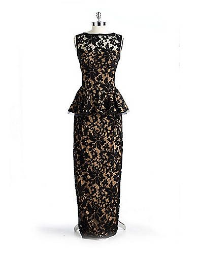 bc680861354 Lace Peplum Gown