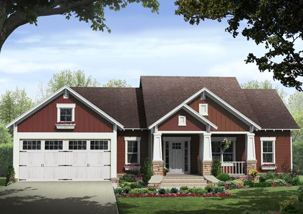 Images For Front Entrance For Ranch House Kelly Leaf Craftsman Ranch Home Plan 077d 0213 House Plans And More Craftsman Style House Plans Craftsman House Plans Cottage House Plans