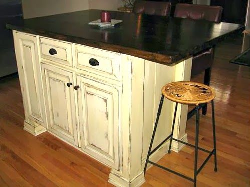 Down to Earth Style: Re-purposed Cabinet to Mobile Kitchen Cart