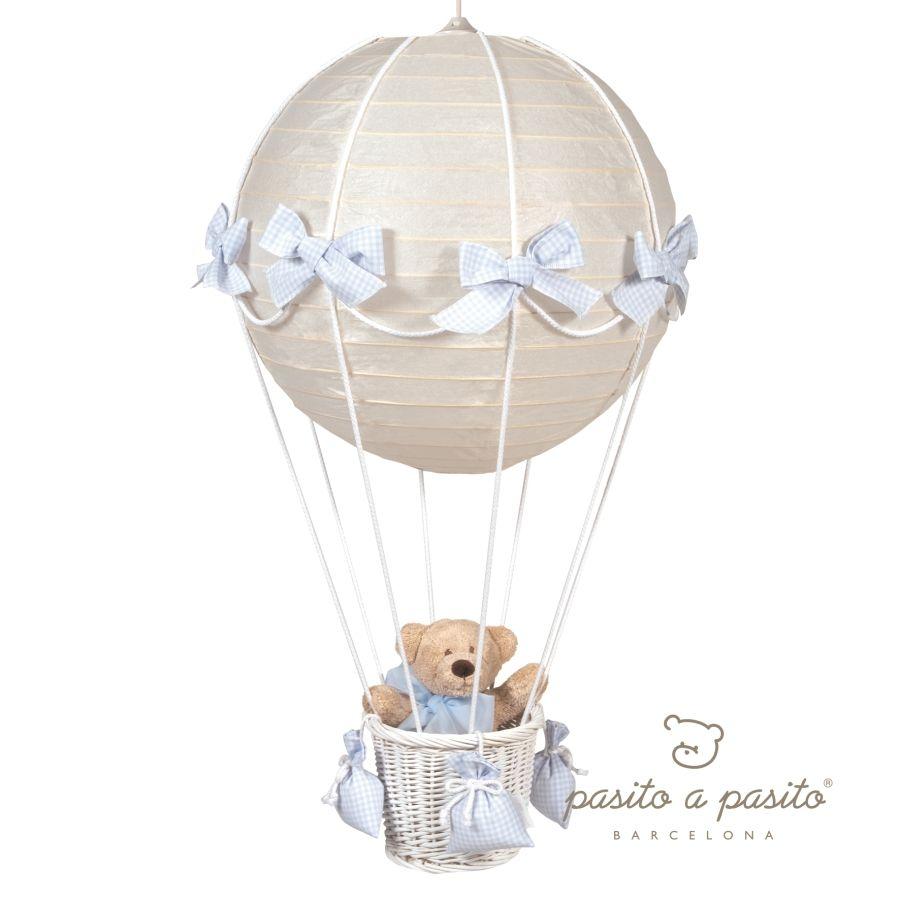 Best Pasito a Pasito Babyzimmerlampe Heissluft Ballon Vichy hellblau im Fantasyroom Shop online bestellen oder im Ladengesch ft in L rrach kaufen