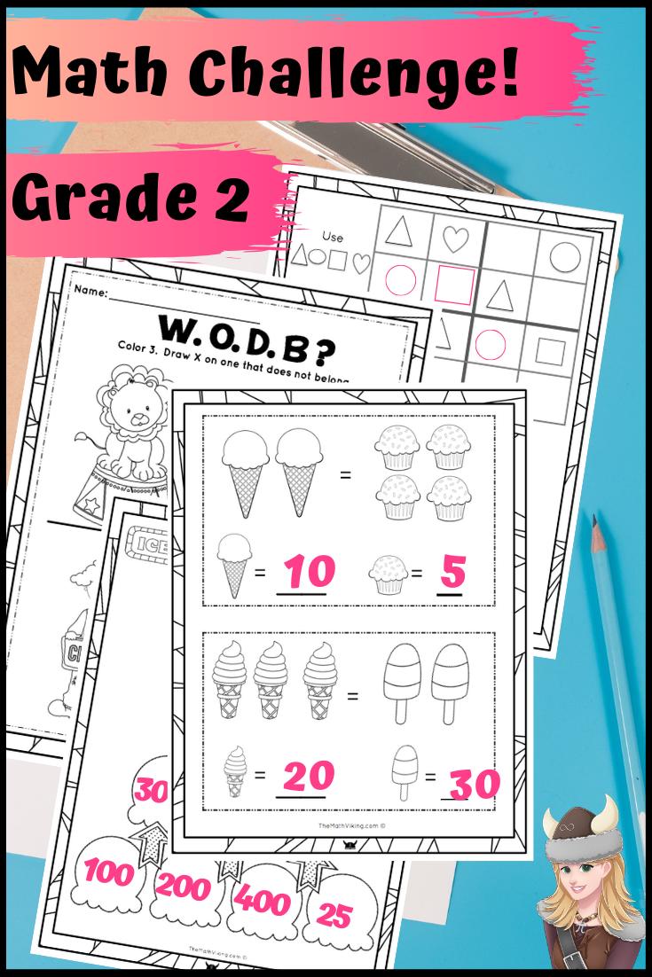 Second Grade Math Enrichment Challenge Packets 180 Days Of Fun Math Enrichment Math Second Grade Math [ 1102 x 735 Pixel ]