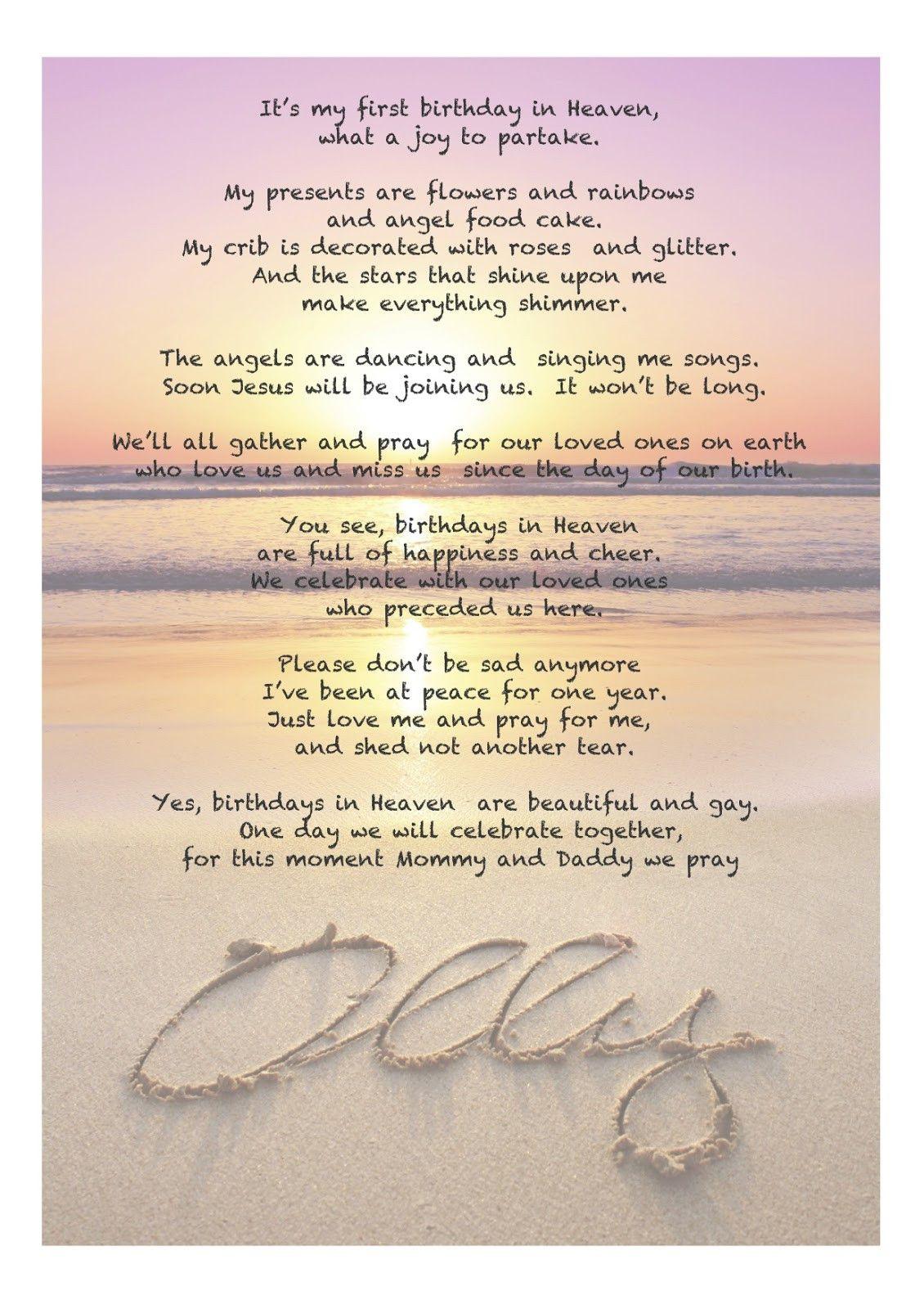 Birthday in heaven poem luxury birthday in heaven poems