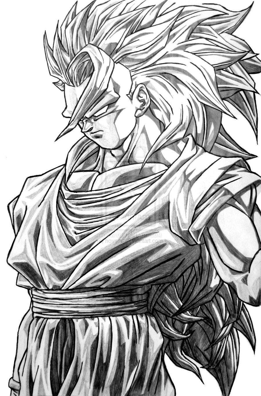 Goku Super Saiyan 3 By Ticodrawing On Deviantart Dragon Ball