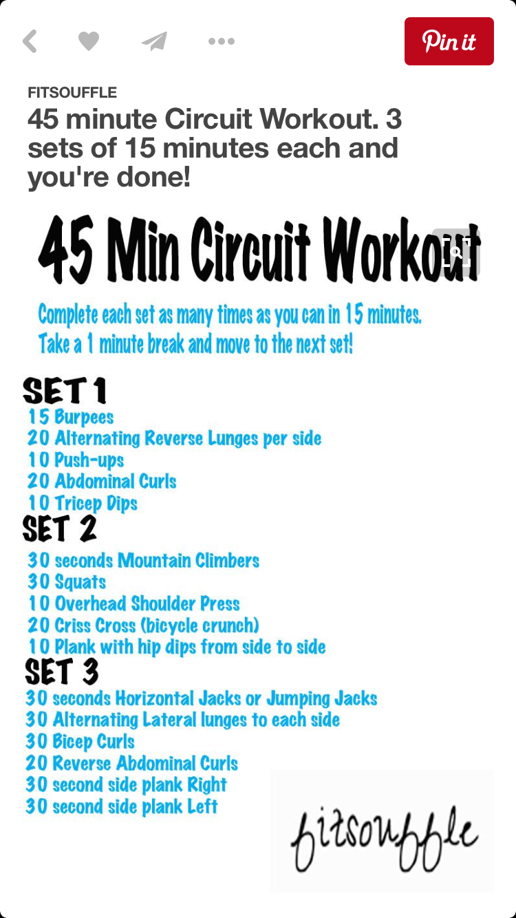 One minute exercise same 45 minutes exercise