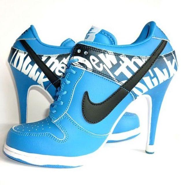 nike dunks high heels for sale