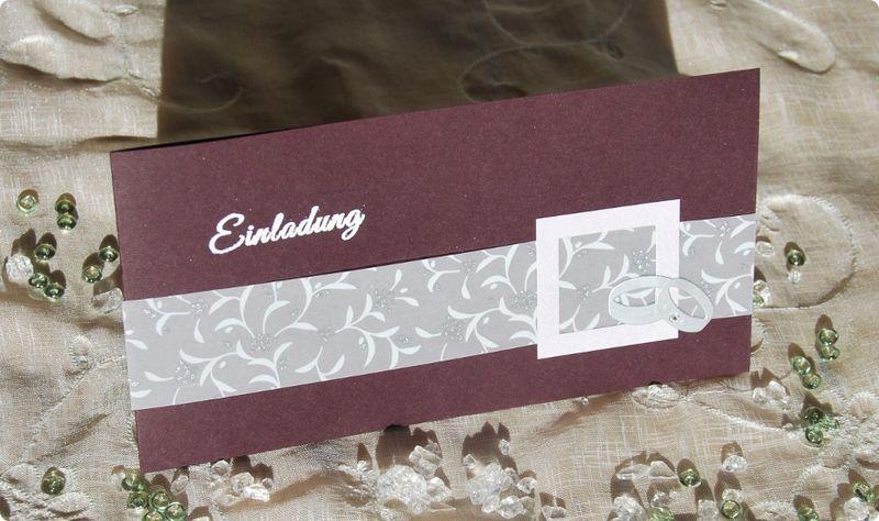 Einladungskarte Hochzeit Silberhochzeit Ringe Einladungskarten