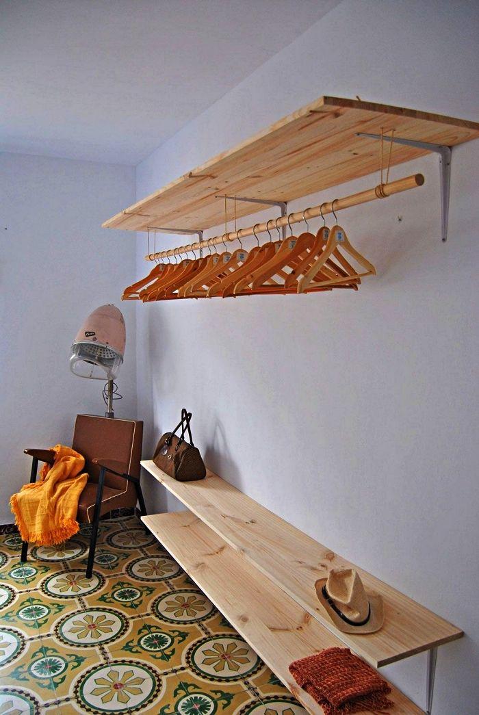 ▷ 1001 + idées pour organiser ses vêtements avec un dressing fait maison