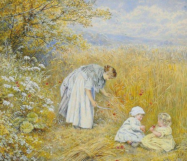 A Surrey Cornfield Eteline Eva Dell (1885-1923) English