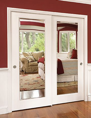 Moulding On Your Ugly Sliding Glass Closet Doors These
