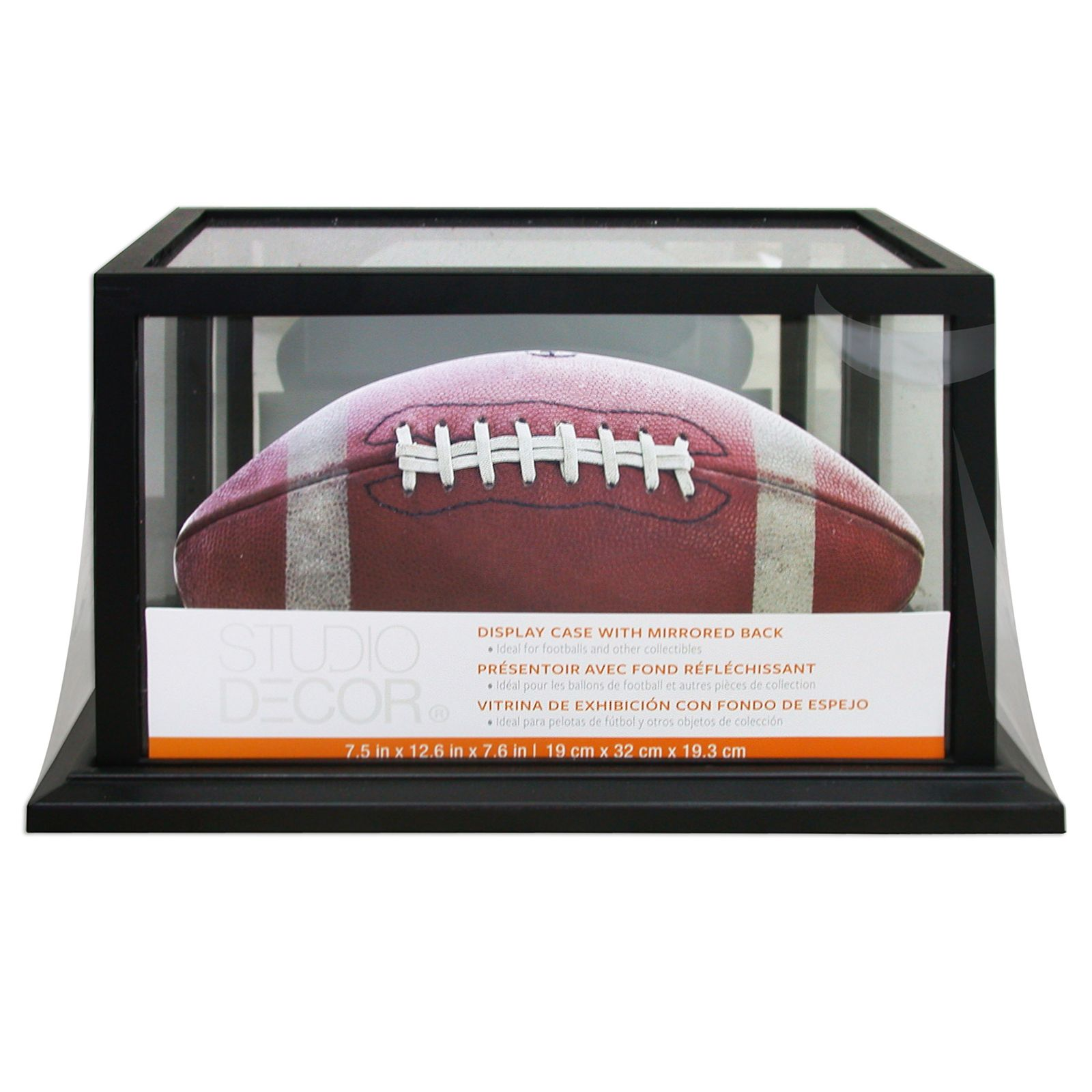 Black Football Display Case With Mirrored Back By Studio Decor Michaels Display Case Display Studio