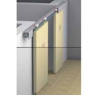 Hafele 941 12 005 N A Eku Supplementary Fitting Set For Symmetrical Motion Of Sliding Wood Doors Sliding Wood Doors Hafele Wood Doors