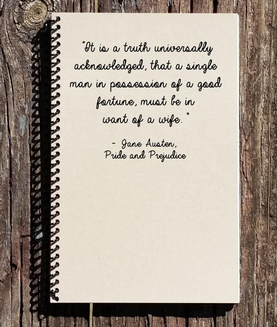 Pride and Prejudice Journal - Pride and Prejudice - Mr. Darcy - Elizabeth Bennett- It is a Truth Universally Acknowledged #prideandprejudice