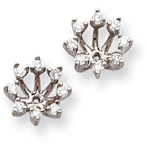 0.56 Carat (ctw) 14k Gold Diamond Round Jackets for Stud Earring - (White-Gold)...