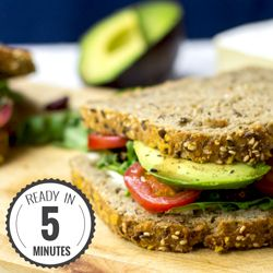 The Ultimate Avocado Sandwich. A healthy and nutritious sandwich filled with avocado, cheese, tomatoes and rocket for an exquisitely juicy and unbeatable taste!