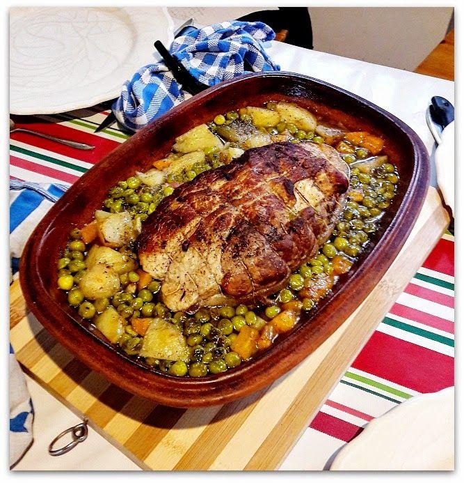 Un dimanche a la campagne cuisine vintage r ti de veau au petits pois au cuisine au - Cuisiner un roti de veau ...