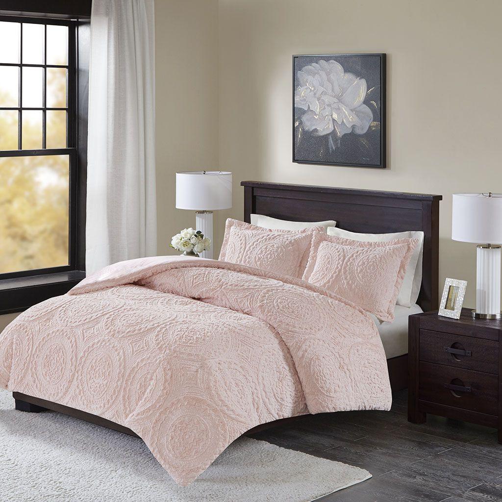 Best Madison Park Arya Medallion Ultra Plush Comforter Mini Set 640 x 480