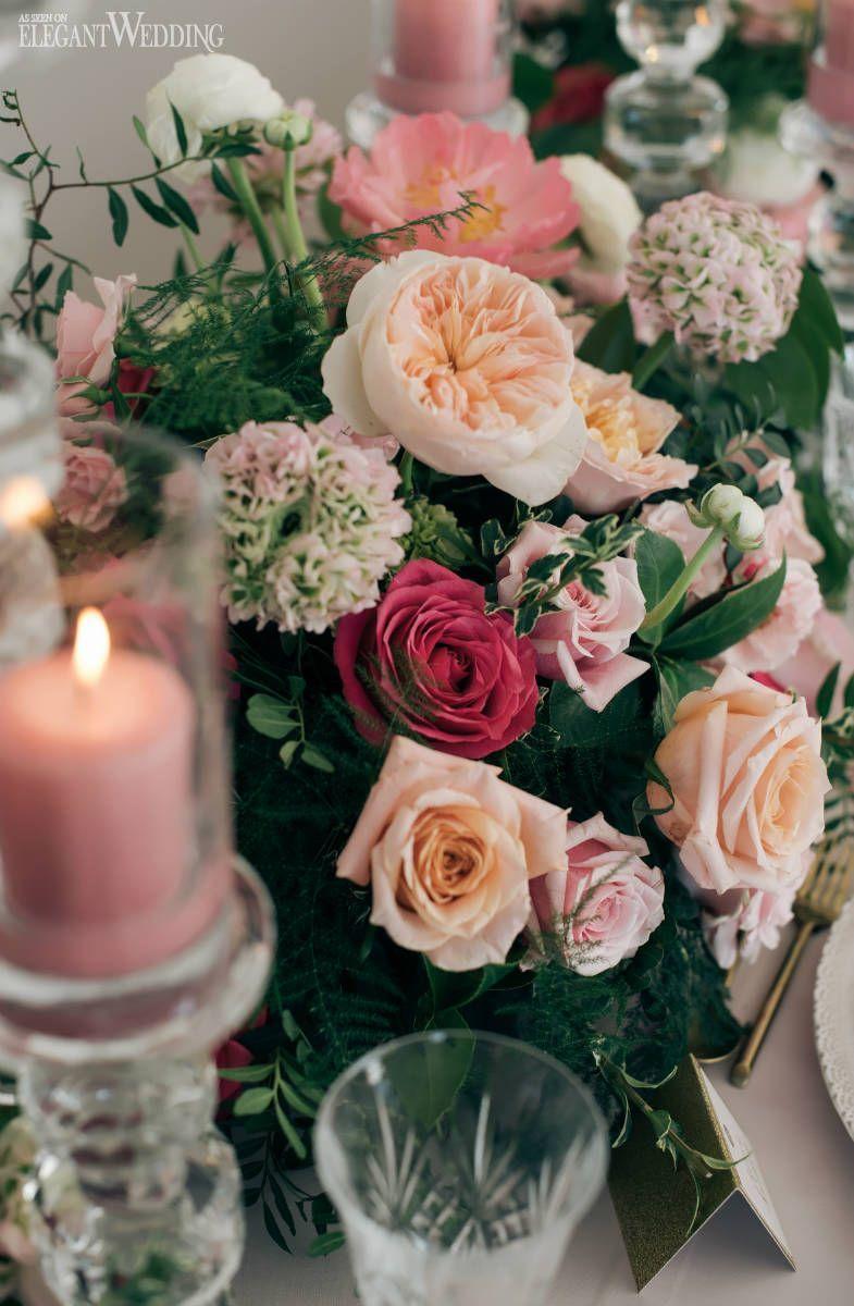 Blush Pink Wedding Flowers Peach Wedding Flowers Magenta Wedding