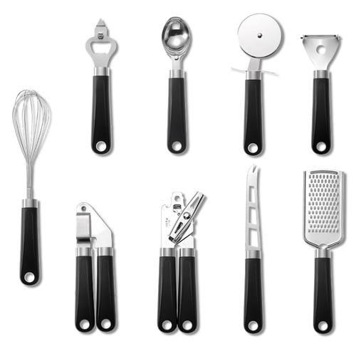 9 Pc Stainless Steel Baking Set - United States / Black-9PCS