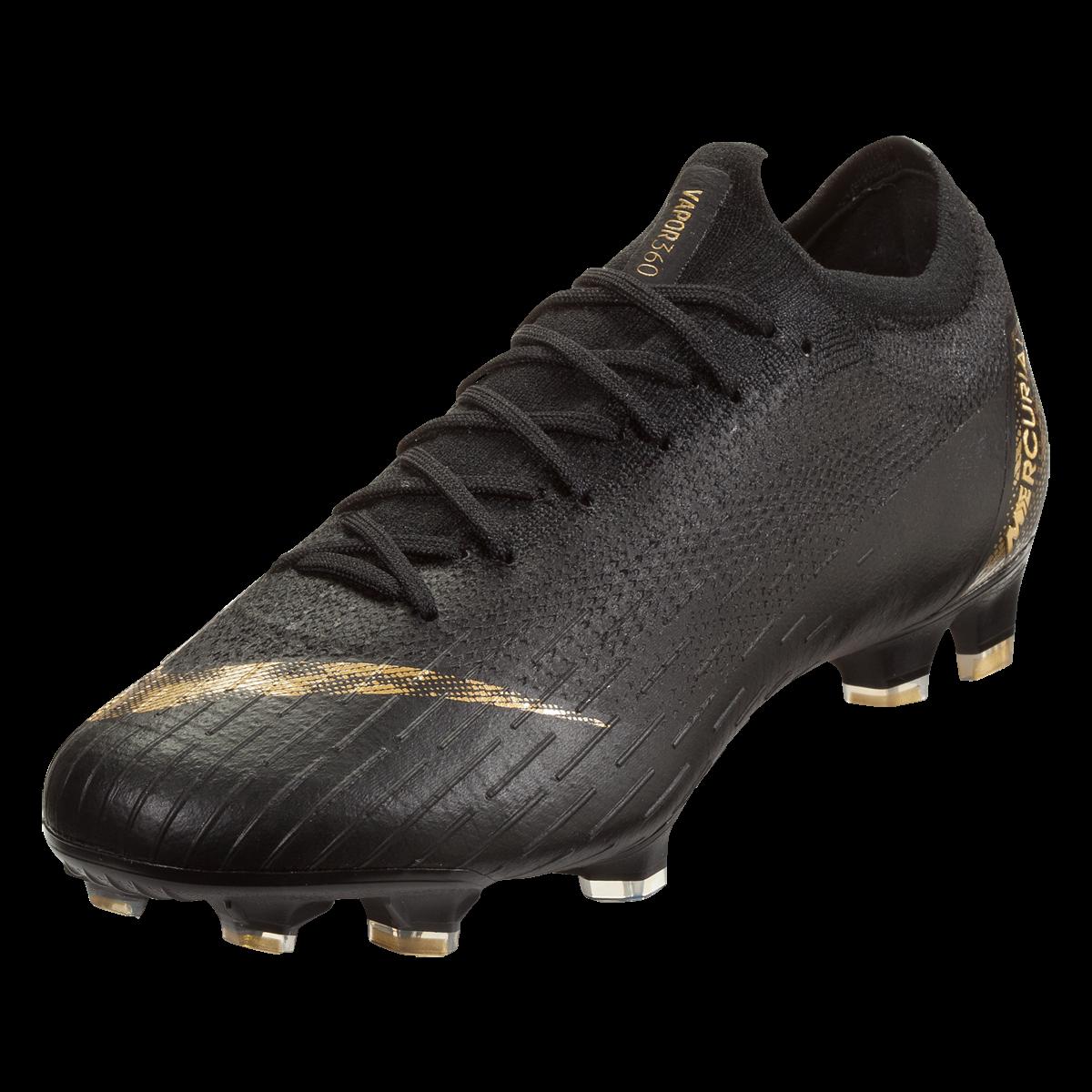 Nike Mercurial Vapor Xii Elite Fg Soccer Cleat Black Metallic Gold 4 5 Chuteiras