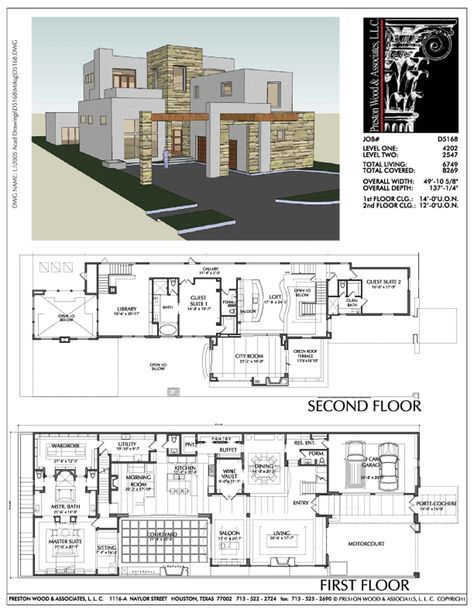 Two Story Urban House Plan D5168 House Plans Vintage House Plans Architectural Design House Plans