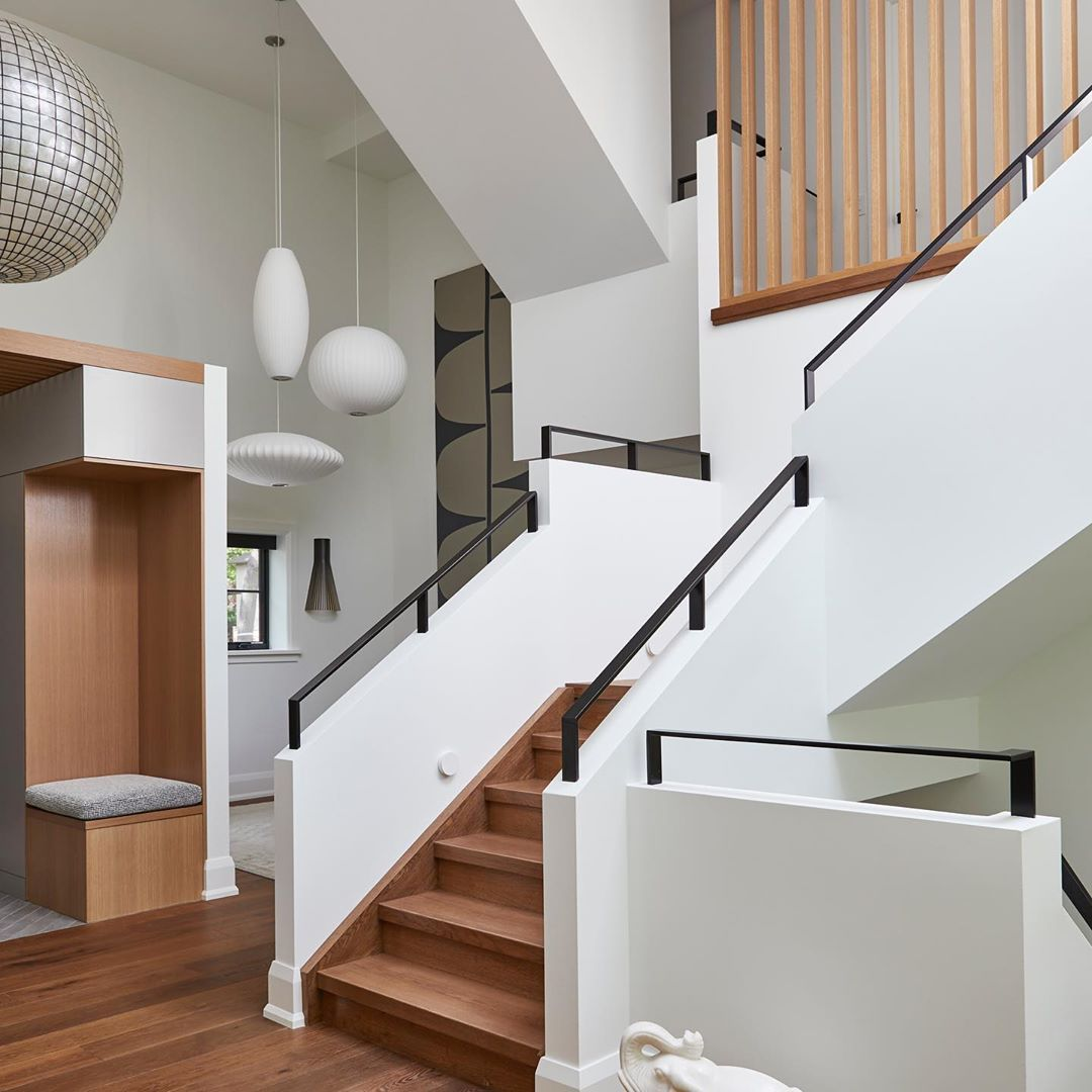 Modern Interior Staircase Materials Photo: Circulation Space With Simple Modern Shapes, Materials