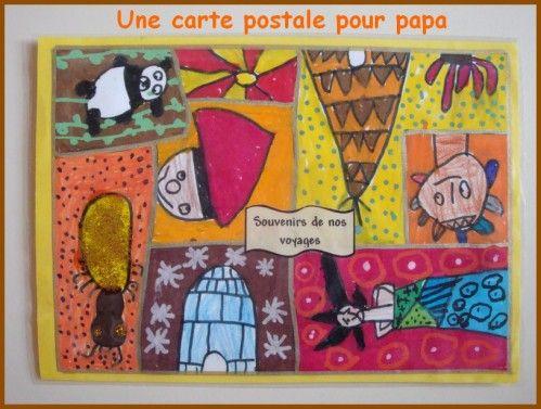 Une carte postale pour mon papa | Carte postale, Carte, Fête des pères