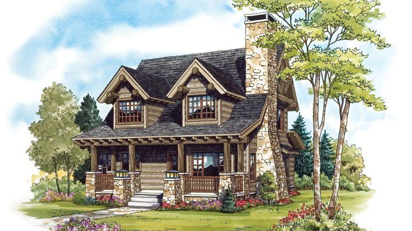 Cabin home plans cabin cottage living for Www homeplans com
