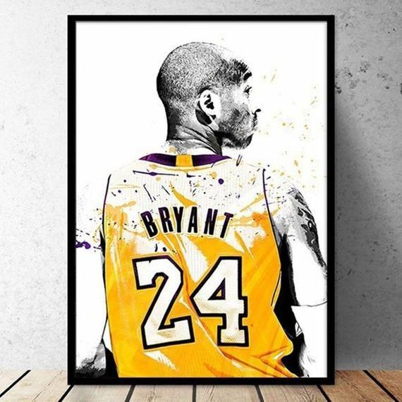 24 Bryant Poster Kobe Poster Kobe Bryant Print Black Mamba | Etsy ...
