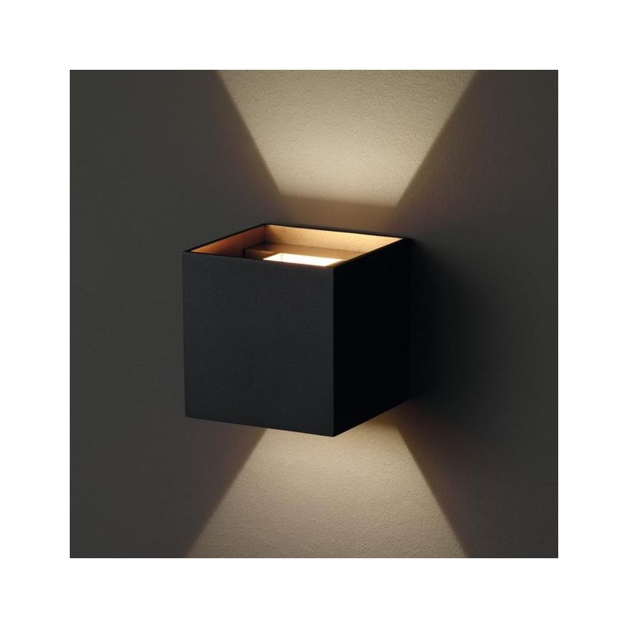 molto luce next led wandleuchte schwarz gold. Black Bedroom Furniture Sets. Home Design Ideas