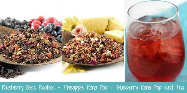 fd53fe10d5d Teavana Recipe - Blueberry Bliss Rooibos + Pineapple Kona Pop Iced ...