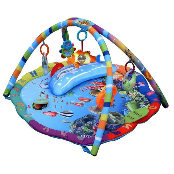 Baby Playmat Gym Musical Animal Wilderness Activity Play Mat With Music /& Toys