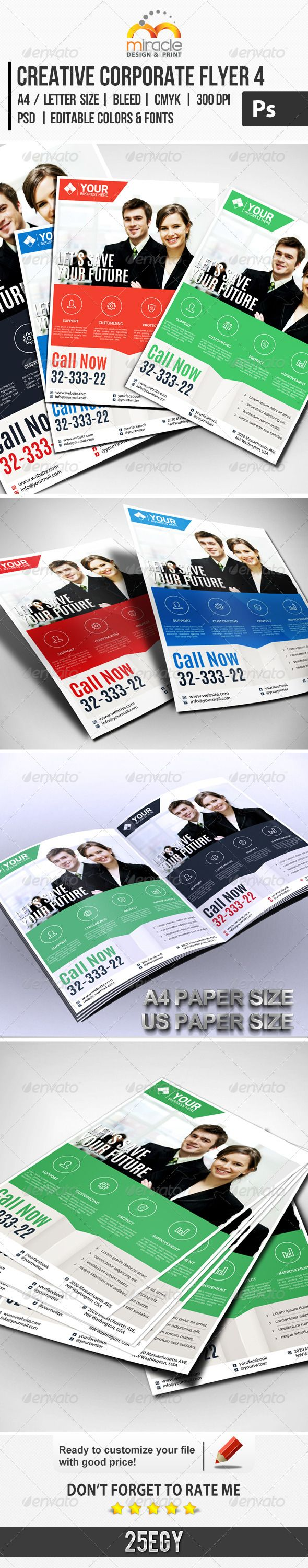 Creative Corporate Flyer 4 :   Check out this #creative #great #corporate #flyer…