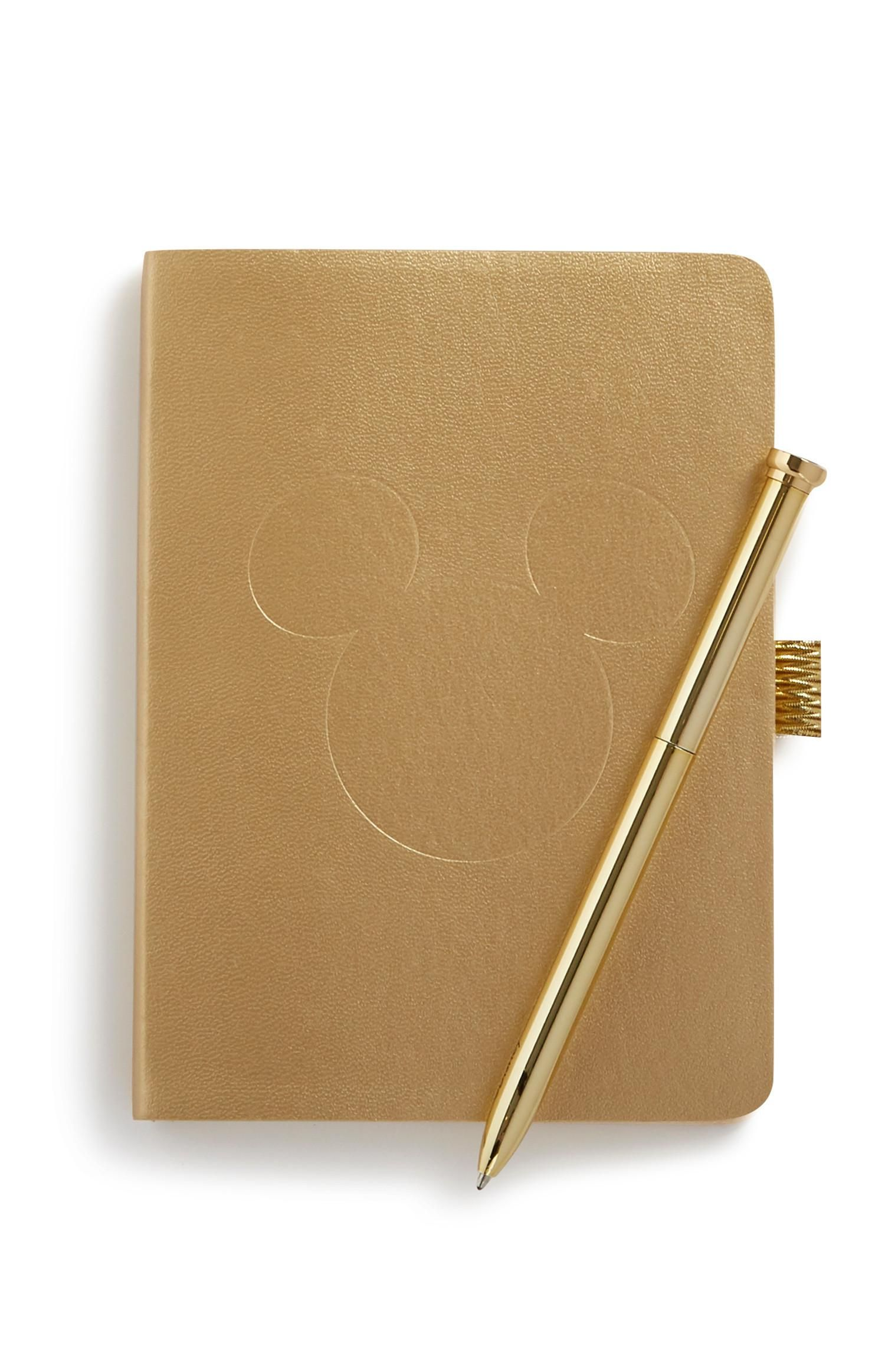 Baby Alive Doll Pen Mickey Mouse Notebook And Gold Pen Stationery Homeware