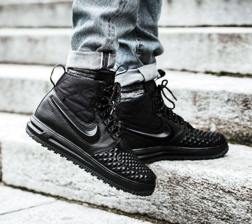 5dac7d7d69827 AF1 NIKE LUNAR FORCE 1 DUCKBOOT 17 HIGH TRIPLE BLACK ALL WEATHER BOOTS  916682 13 #Nike #SnowWinter