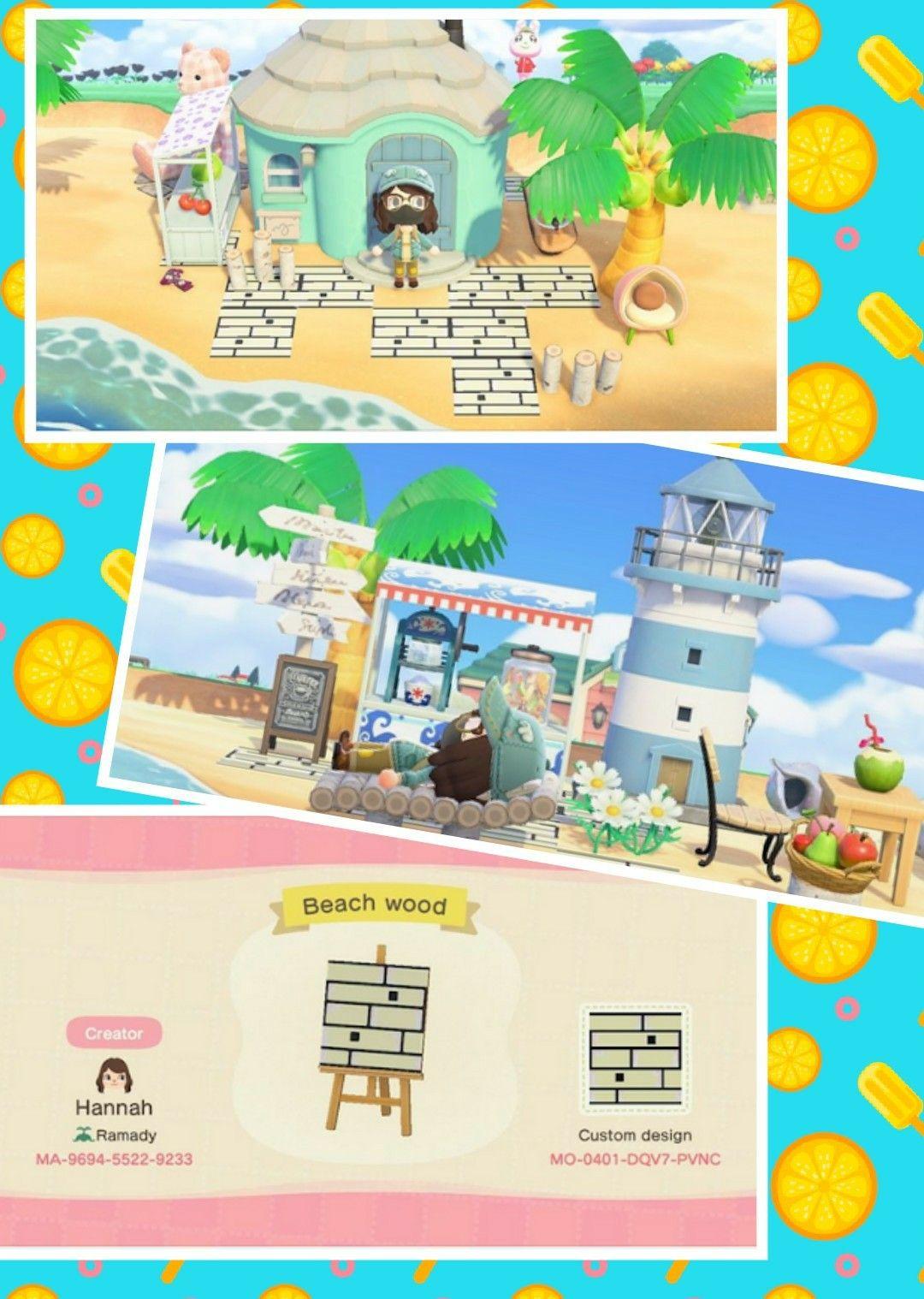Animal Crossing New Horizons, House, Beach House, Beach ... on Animal Crossing New Horizons Wood Design  id=84238