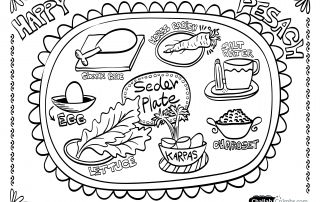 A Collection Of Passover Coloring Pages Seder Plate Passover