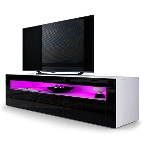 TV Stand Unit Valencia in White matt / Black High Gloss / Black High Gloss Vladon http://www.amazon.co.uk/dp/B00U64K7NU/ref=cm_sw_r_pi_dp_IGxivb12R5V9D