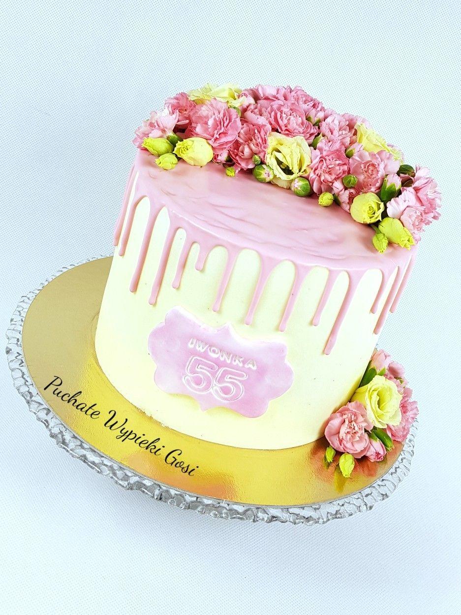 Dripcake Flowers Zywe Kwiaty Desserts Cake Birthday Cake