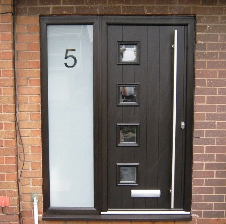 Outstanding cheap black composite doors pictures ideas for Cheap black exterior doors