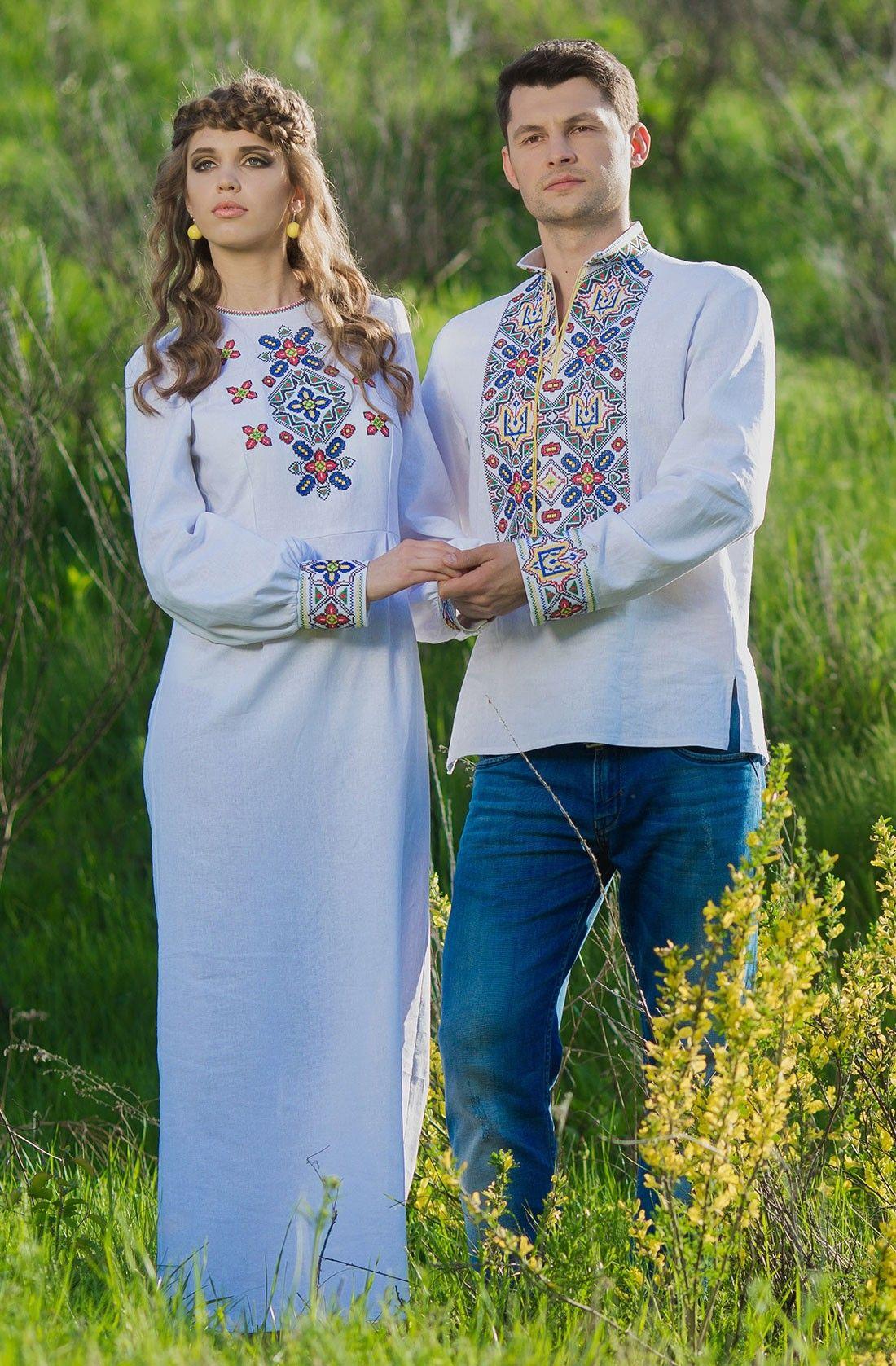 Чудовий весільний комплект вишиванок для молодят  3ae6052efb12c